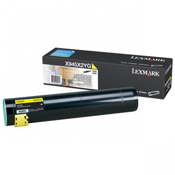 Lexmark originální toner X945X2Y, yellow, 22000str., Lexmark X945