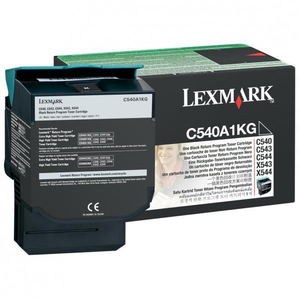Lexmark originální toner C540A1KG, black, 1000str., Lexmark C540, X543, X544, X543, X544
