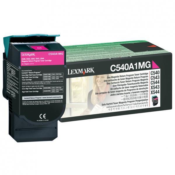 Lexmark originální toner C540A1MG, magenta, 1000str., Lexmark C540, X543, X544, X543, X544