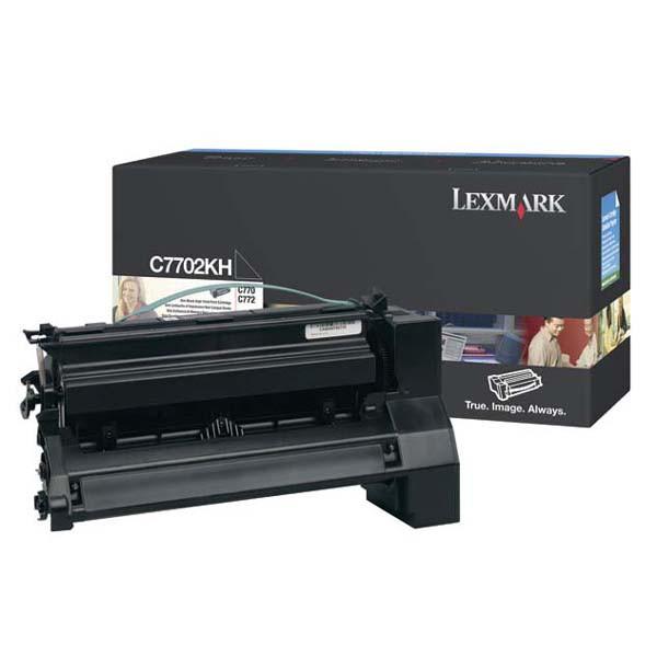 Lexmark originální toner C7702KH, black, 10000str., high capacity, Lexmark C77X