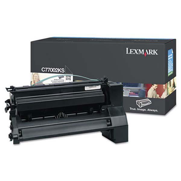 Lexmark originální toner C7702KS, black, 6000str., Lexmark C77X