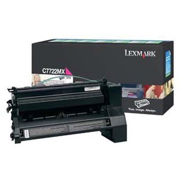 Lexmark originální toner C7722MX, magenta, 15000str., Lexmark C772