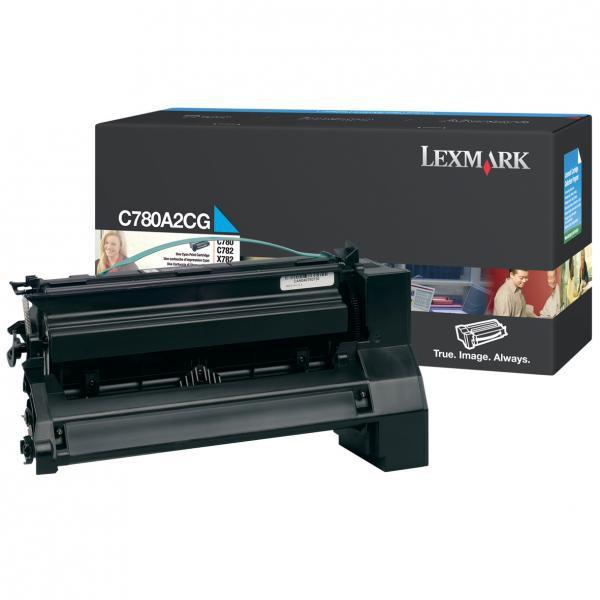 Lexmark originální toner C780A2CG, cyan, 6000str., Lexmark C780, C782