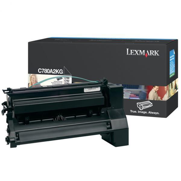 Lexmark originální toner C780A2BG, black, 6000str., Lexmark C780, C782