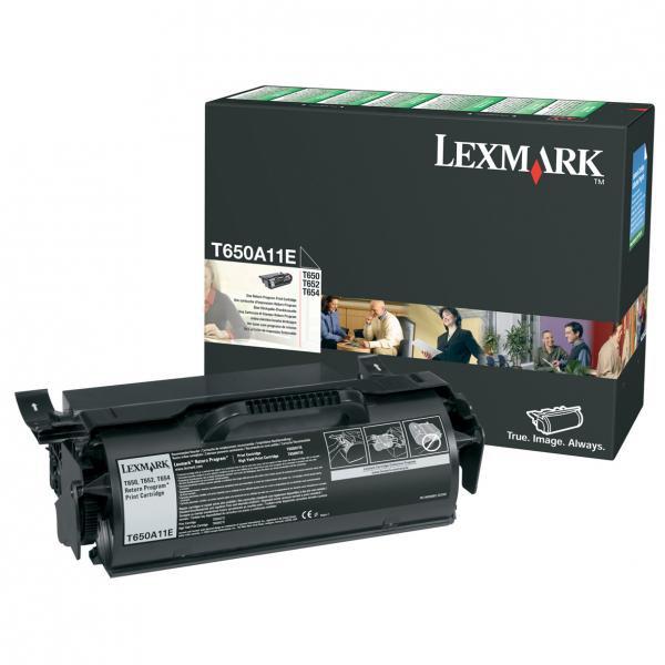 Lexmark originální toner T650A11E, black, 7000str., return, Lexmark T650DN