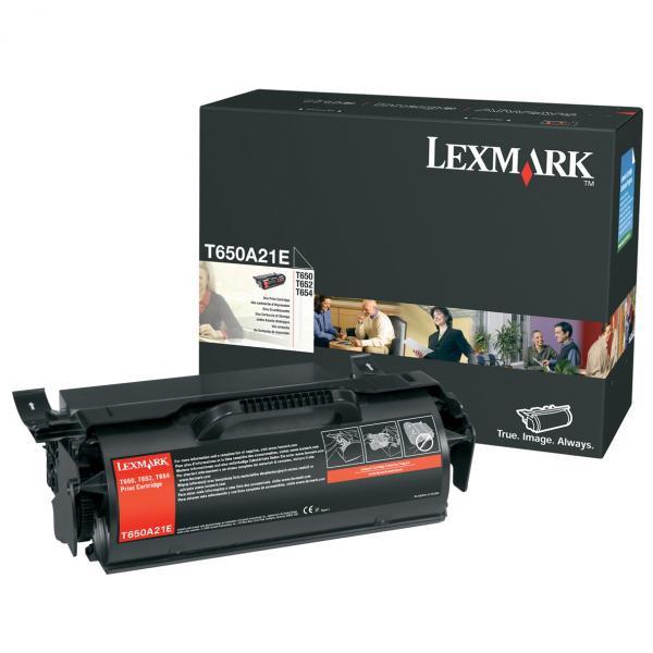 Lexmark originální toner T650A21E, black, 7000str., Lexmark T650DN