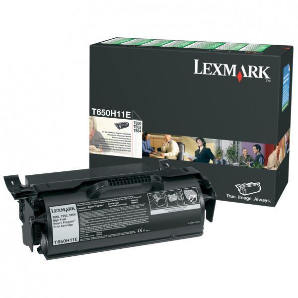 Lexmark originální toner T650H11E, black, 25000str., return, high capacity, Lexmark T650DN