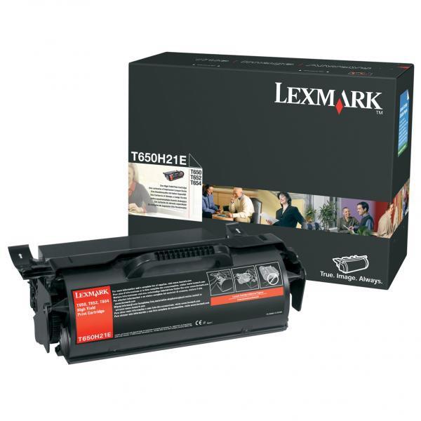 Lexmark originální toner T650H21E, black, 25000str., high capacity, Lexmark T650DN