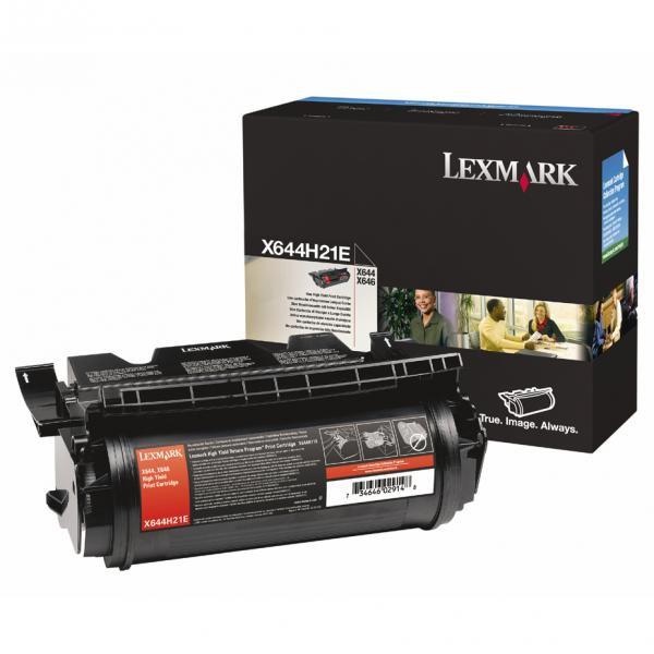 Lexmark originální toner X644H21E, black, 21000str., high capacity, Lexmark X642e,X644e,X646e
