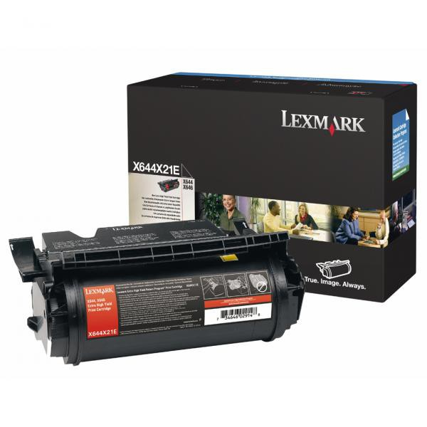 Lexmark originální toner X644X21E, black, 32000str., extra high capacity, Lexmark X644,X646e