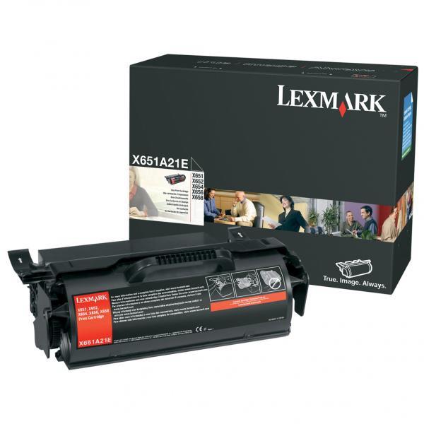 Lexmark originální toner X651A21E, black, 7000str., Lexmark X651,X652,X654,X656,X658