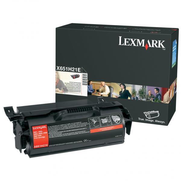 Lexmark originální toner X651H21E, black, 25000str., Lexmark X651,X652,X654,X656,X658