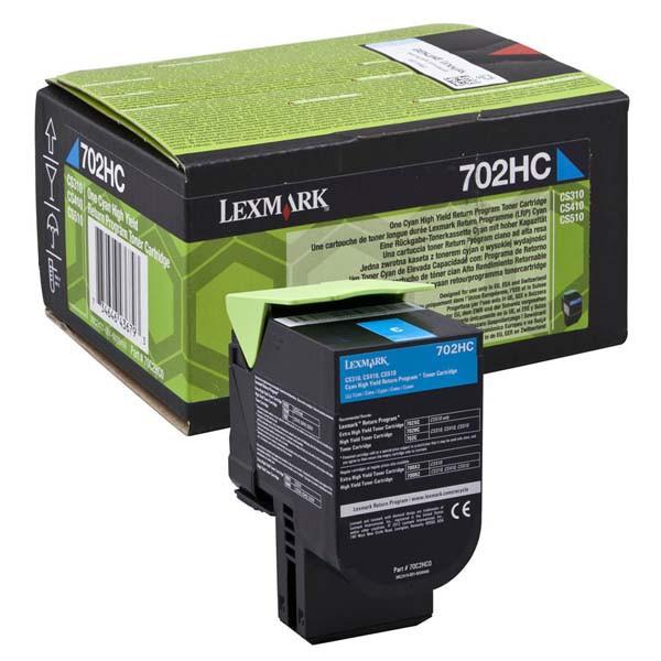 Lexmark originální toner 70C2HC0, cyan, 3000str., return, high capacity, Lexmark CS510de, CS410dn, CS310dn, CS310n, CS410n