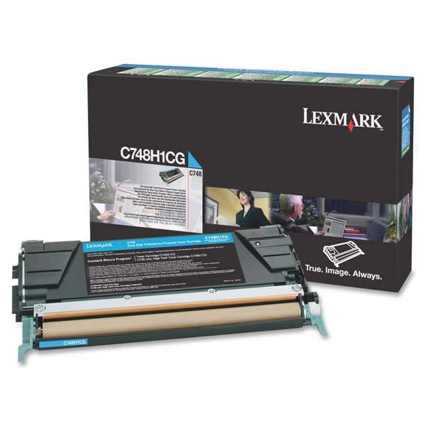Lexmark originální toner C748H1CG, cyan, 10000str., return, high capacity, Lexmark C748DE, C748DTE, C748E