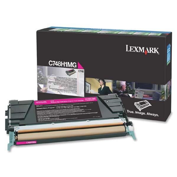 Lexmark originální toner C748H1MG, magenta, 10000str., return, high capacity, Lexmark C748DE, C748DTE, C748E