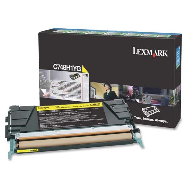 Lexmark originální toner C748H1YG, yellow, 10000str., return, high capacity, Lexmark C748DE, C748DTE, C748E