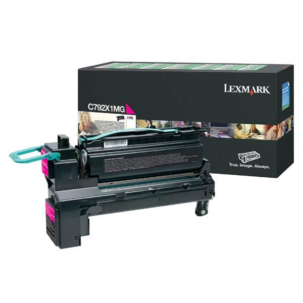 Lexmark originální toner C792X1MG, magenta, 20000str., return, extra high capacity, Lexmark C792de,