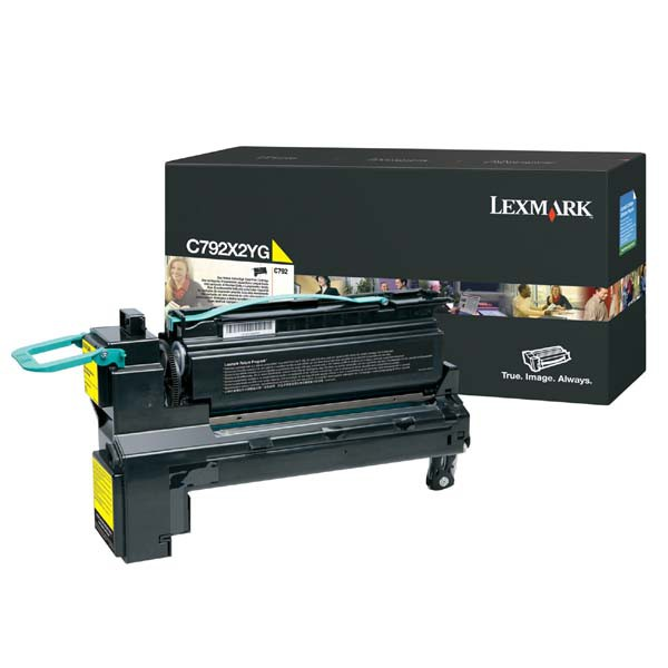 Lexmark originální toner C792X2YG, yellow, 20000str., extra high capacity, Lexmark C792de, C792e, C792dhe, C792dte