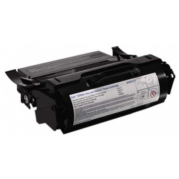 Dell originální toner 593-11052, black, 30000str., 2KMVD, return, high capacity, Dell 5350DN
