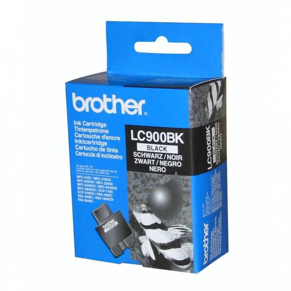 Brother originální ink LC-900BK, black, 500str., Brother DCP-110C, MFC-210C, 410C, 1840C, 3240C, 5440CN