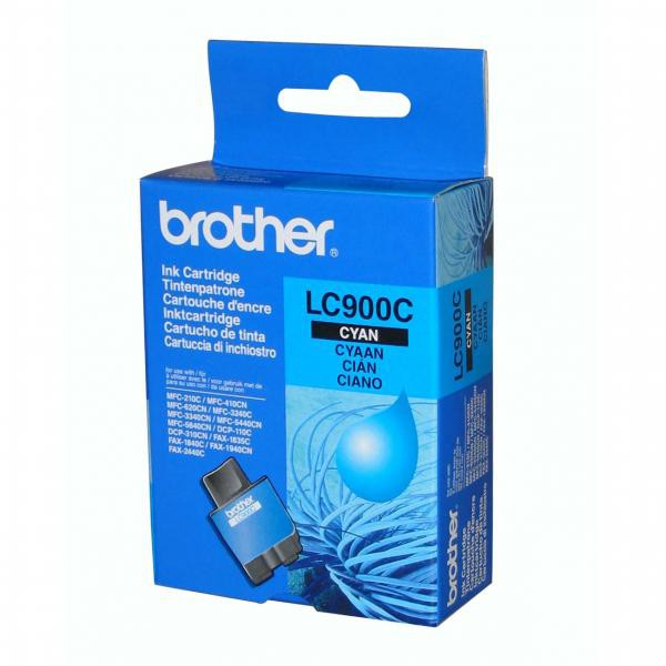 Brother originální ink LC-900C, cyan, 400str., Brother DCP-110C, MFC-210C, 410C, 1840C, 3240C, 5440CN