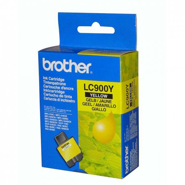 Brother originální ink LC-900Y, yellow, 400str., Brother DCP-110C, MFC-210C, 410C, 1840C, 3240C, 5440CN