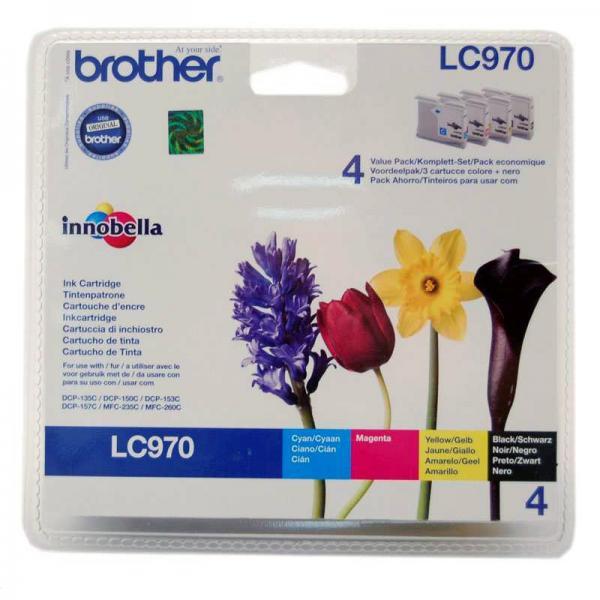 Brother originální ink LC-970VALBP, CMYK, 300str., Brother DCP-135C, 150C, MFC-235C, 260C