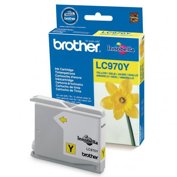 Brother originální ink LC-970Y, yellow, 300str., Brother DCP-135C, 150C, MFC-235C, 260C