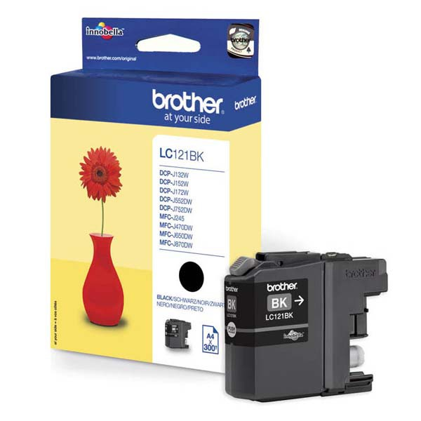 Brother originální ink LC-121BK, black, 300str., Brother DCP-J552DW, MFC-J470DW