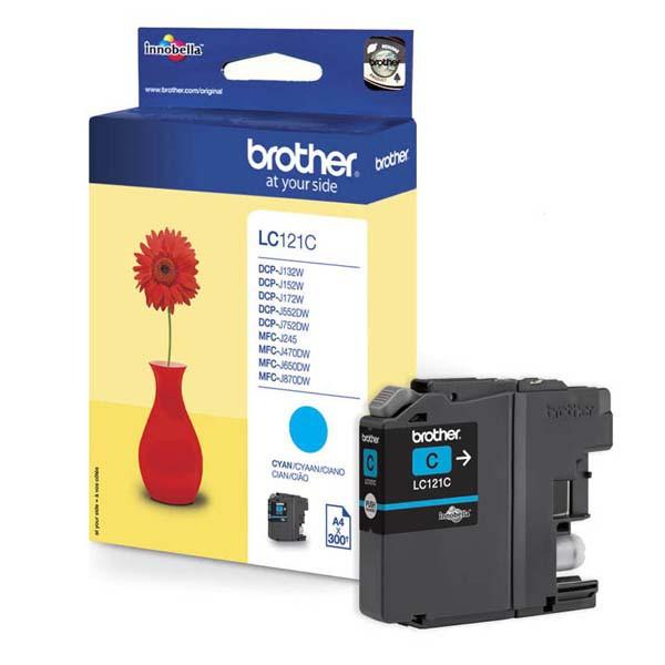 Brother originální ink LC-121C, cyan, 300str., Brother DCP-J552DW, MFC-J470DW