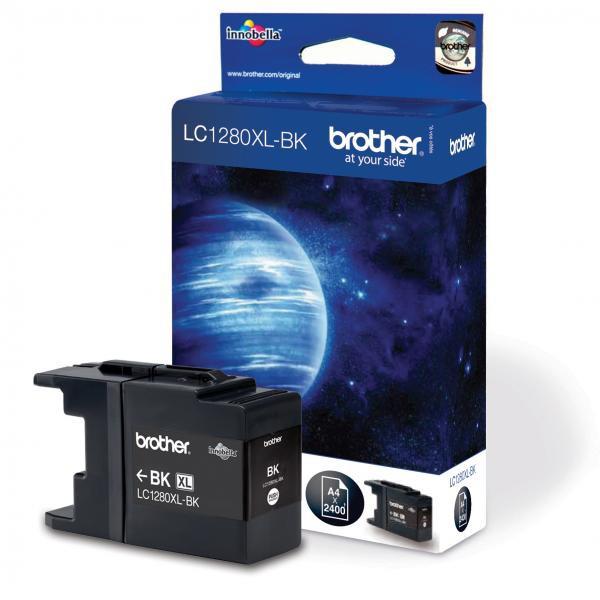 Brother originální ink LC-1280XLBK, black, 2400str., high capacity, Brother MFC-J6910DW