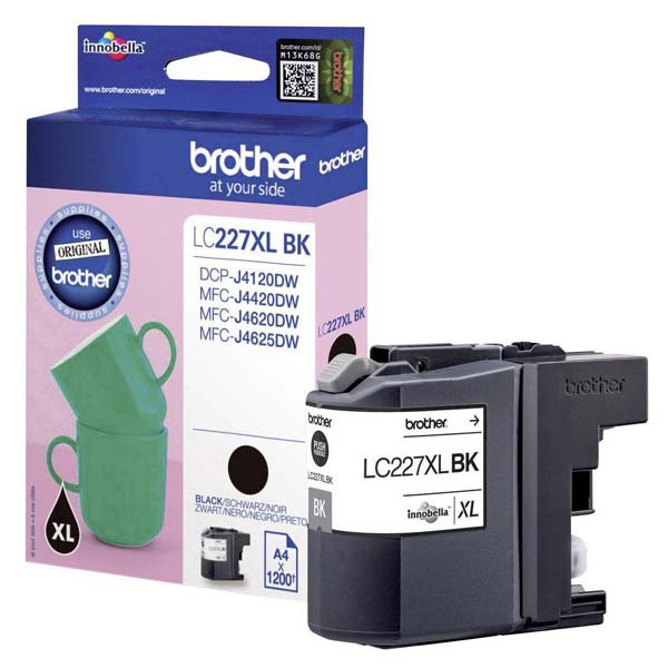 Brother originální ink LC-227XLBK, black, 1200str., Brother MFC-J4420DW, MFC-J4620DW
