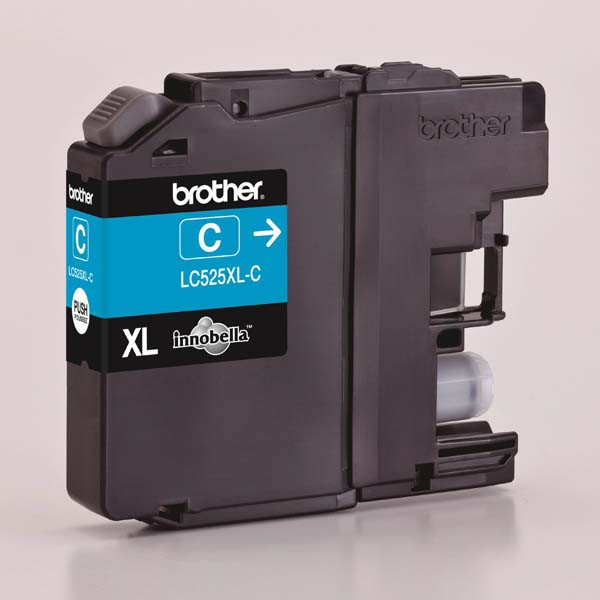 Brother originální ink LC-525XLC, cyan, 1300str., Brother DCP J100, DCP J105, MFCJ200