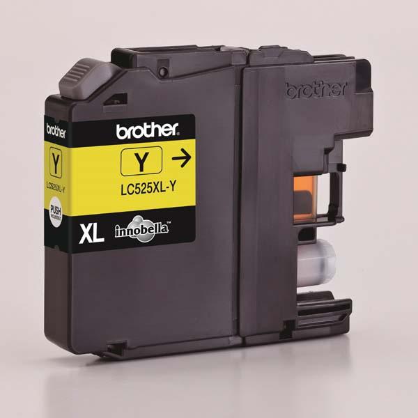 Brother originální ink LC-525XLY, yellow, 1300str., Brother DCP J100, DCP J105, MFCJ200