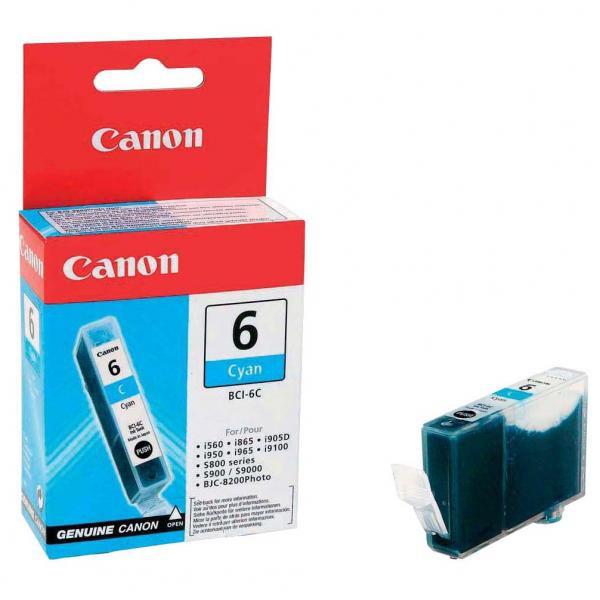 Canon originální ink BCI6C, cyan, 4706A002, Canon S800, 820, 820D, 830D, 900, 9000, i950