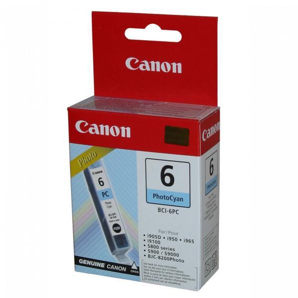 Canon originální ink BCI6PC, photo cyan, 4709A002, Canon S800, 820D, 830D, 900, 9000, i950