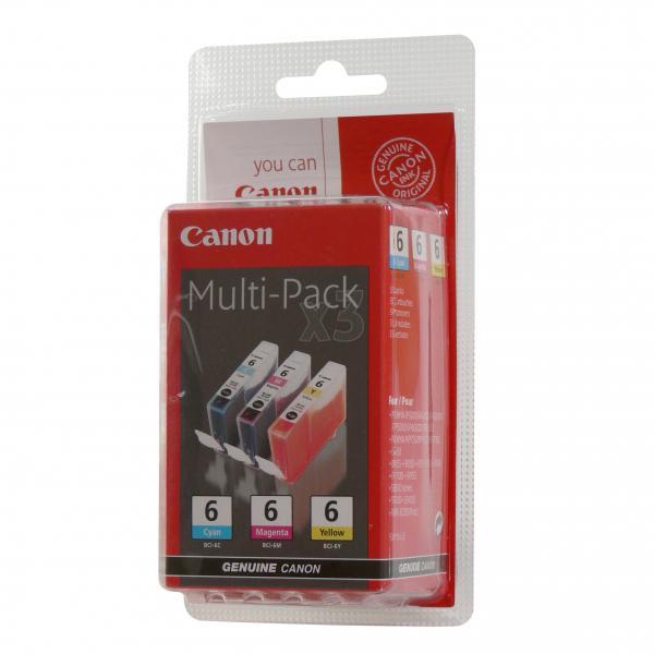 Canon originální ink BCI6C/M/Y, cyan/magenta/yellow, 4706A029, 4706A022, Canon S800, 820, 820D, 830D, 900, 9000, i950