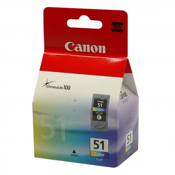 Canon originální ink CL51, color, 330str., 3x7ml, 0618B001, Canon iP2200, iP6210D, MP150, MP170, MP450