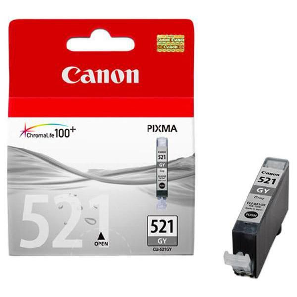 Canon originální ink CLI521GY, grey, 1395str., 9ml, 2937B001, Canon MP980