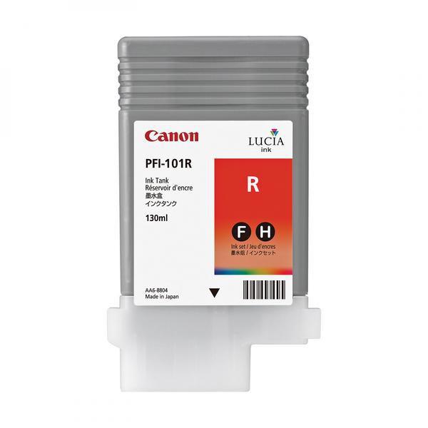 Canon originální ink PFI101 Red, red, 130ml, 0889B001, Canon iPF-5000