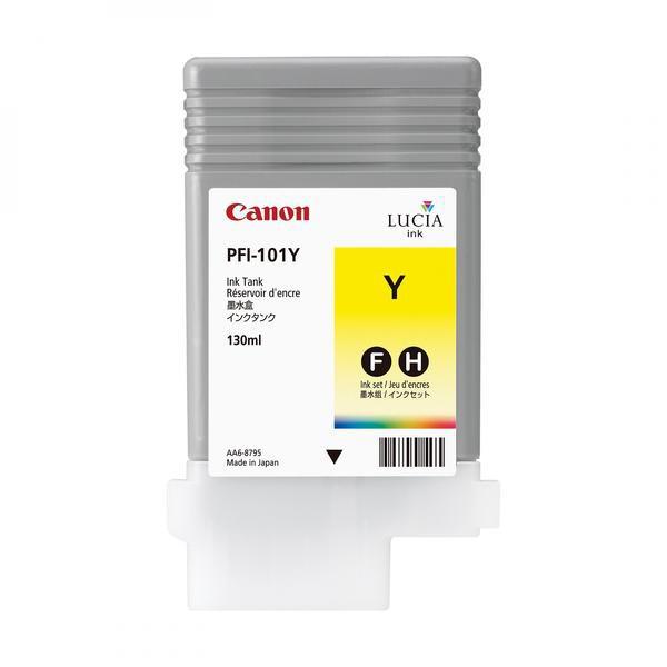Canon originální ink PFI101 Y, yellow, 130ml, 0886B001, Canon iPF-5000