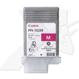 Canon originální ink PFI102M, magenta, 130ml, 0897B001, Canon iPF-500, 600, 700