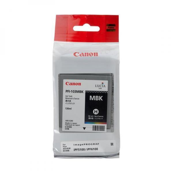 Canon originální ink PFI103MB, matte black, 130ml, 2211B001, Canon iPF-5100, 6100