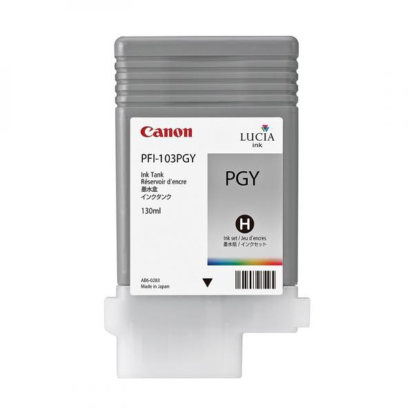 Canon originální ink PFI103PGY, photo grey, 130ml, 2214B001, Canon iPF-5100, 6100