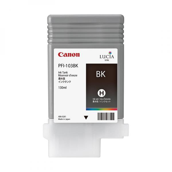 Canon originální ink PFI103B, photo black, 130ml, 2212B001, Canon iPF-5100, 6100