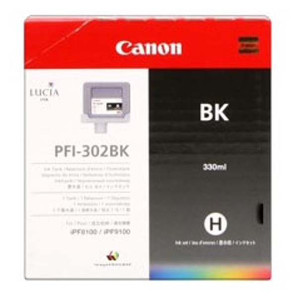 Canon originální ink PFI302B, photo black, 330ml, 2216B001, Canon iPF-8100, 9100