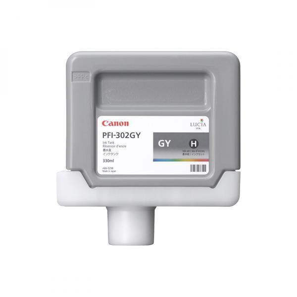 Canon originální ink PFI302GY, grey, 330ml, 2217B001, Canon iPF-8100, 9100