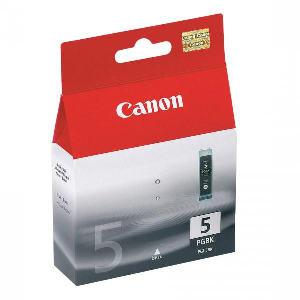 Canon originální ink PGI5BK, black, 360str., 26ml, 0628B001, Canon iP4200, 5200, 5200R, MP500, 800