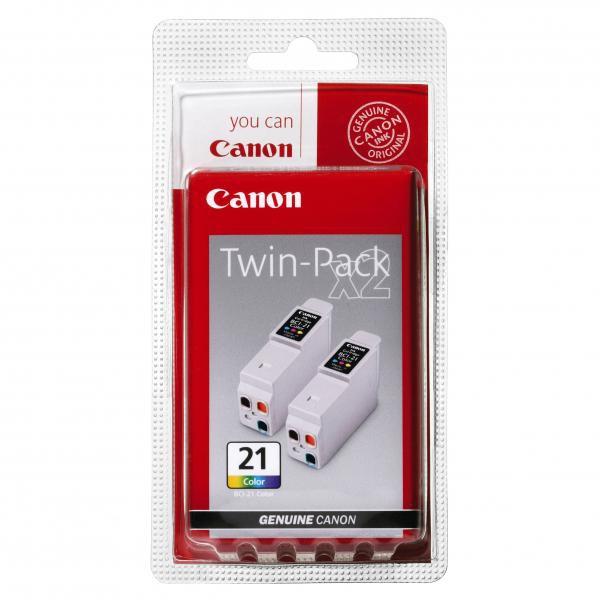 Canon originální ink blistr, BCI21C, color, 2x120str., 0955A357, 2ks, Canon BJ-C4000, 2000, 4100, 4400, 4650, 5500