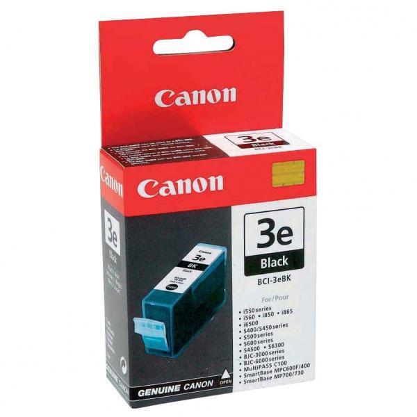 Canon originální ink blistr s ochranou, BCI3eBK, black, 500str., 27ml, 4479A297, 4479A277, Canon BJ-C6000, 6100, 6200, S400, 450